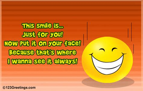 Smile Ecards a smile for u free smile ecards greeting cards 123