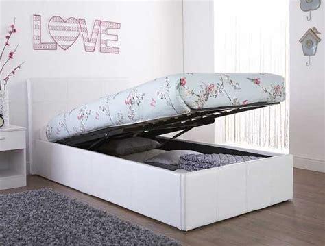 End Lift Ottoman Storage White Single Bed Frame Single Storage Beds Ottoman
