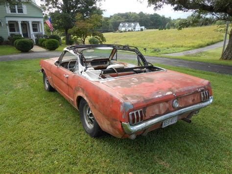 1965 mustang convertible project for sale no reserve 1965 ford mustang k code convertible project