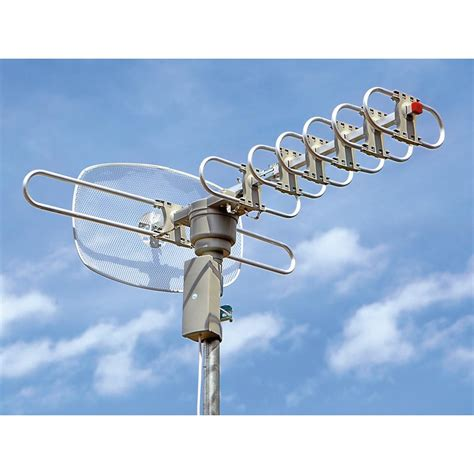 elite hdtv outdoor antenna with remote 224813 at sportsman s guide
