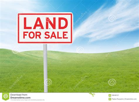 house with land for sale signboard with land for sale text stock image image 59648121