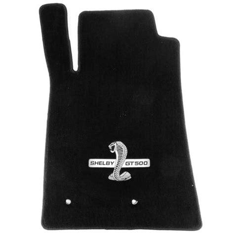 ford mustang black floor mats w gt500 logo 07 10 lmr