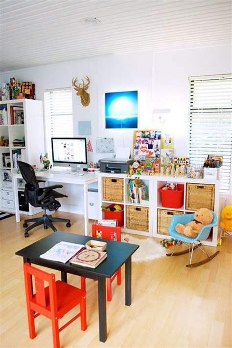 office playroom office and play room combo exle decorating