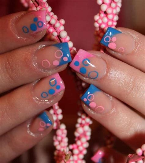 easy nail art pink and blue 22 french tip nail art designs ideas design trends