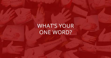 what s your one word