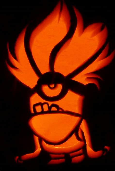 purple minion for despicable me 2 pumpkin stencils