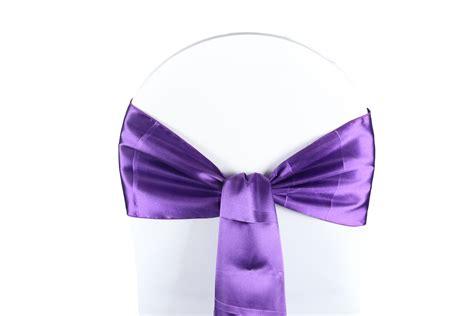 noeud de chaise violet noeud de chaise satin violet harmonie florale