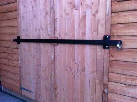 shed garage security lock bar barn door locks shed