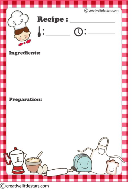 chef recipe card template mini chef imagui