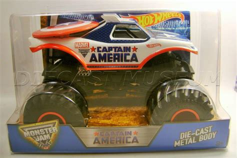 1 24 scale jam trucks captain america marvel 1 24 scale jam truck