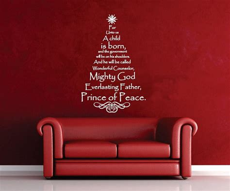 scripture tree decal christmas tree vinyl wall decal