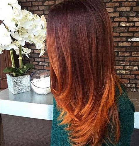 does hair look like ombre when highlights growing out best copper ombre ideas on pinterest