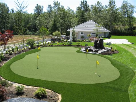 artificial backyard putting green synthetic putting greens golfgreenmaker s blog