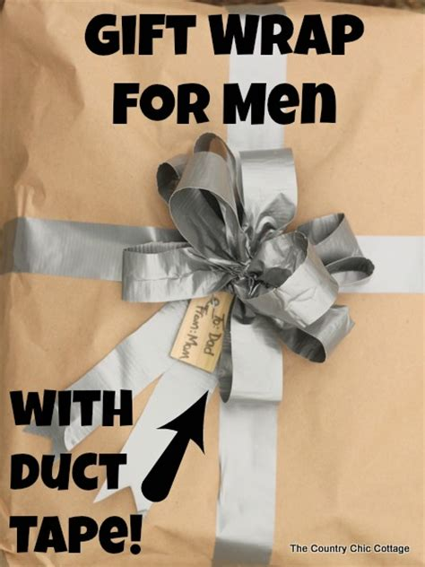 gift wrap for men using duct tape from homedepot the