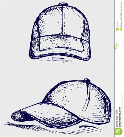 how to draw a baseball hat pencil drawing
