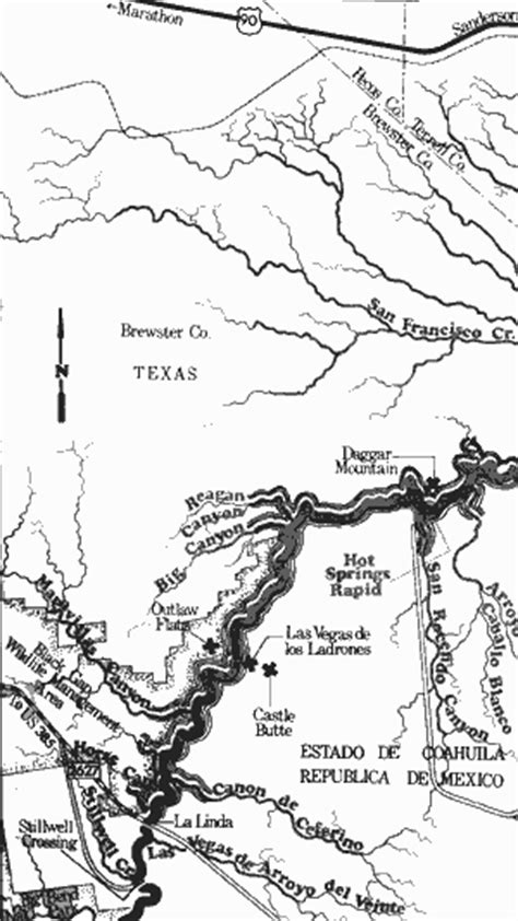 langtry texas map tpwd an analysis of texas waterways pwd rp t3200 1047 grande river part 2