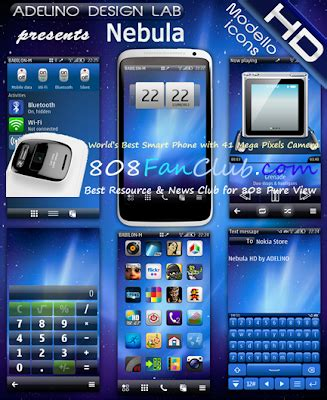 themes hd belle adelino nebula hd theme nokia n8 belle refresh