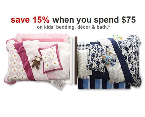 target bedding coupons target coupons 15 percent off kids bedding and bath
