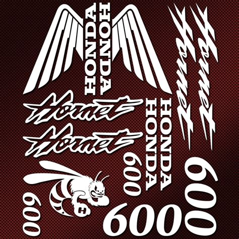 Honda Hornet Aufkleber by Kit Autocollants Honda Hornet 600 Stickers Moto