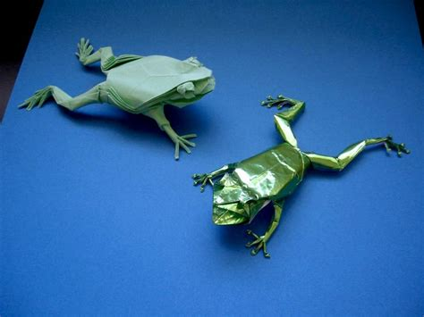 Origami Tree Frog - treefrogs by origami artist galen johnny times