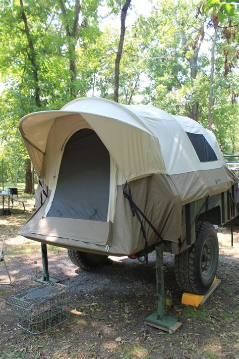 tents for truck beds army trailer with full sized truck bed tent on it