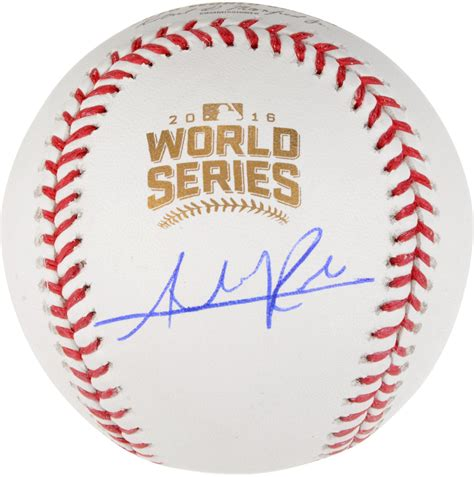 sport star autographs autographs from the worlds most addison russell chicago cubs autographed 2016 mlb world