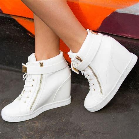 Sneakers Wedges Black White 25 white wedge sneakers ideas on sneaker