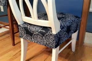 Seat Covers For Kitchen Chairs Dining Kitchen Chair Seat Cover Back View Finished