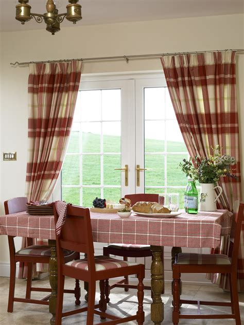 Country Dining Room Curtains Check Curtains Photos Design Ideas Remodel And Decor Lonny