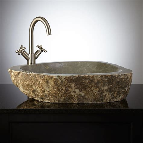 stone bathroom sink manning natural stone vessel sink
