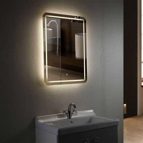 backlit bathroom mirrors illuminated bathroom mirrors