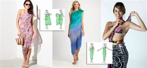 Pasrio Dress 6 different ways to tie a sarong dress and pareo skirt for