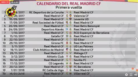 Calendario La Liga 2017 Sorteo Calendario De Laliga 2017 2018
