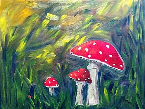 mushroom oil painting art httplometscom