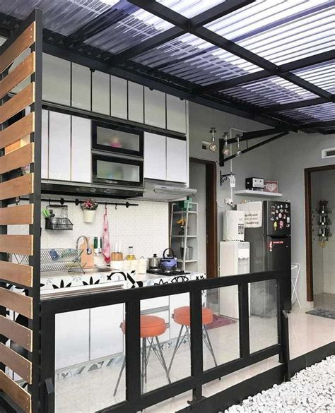 desain dapur diruang terbuka foto desain dapur semi outdoor di belakang rumah desain