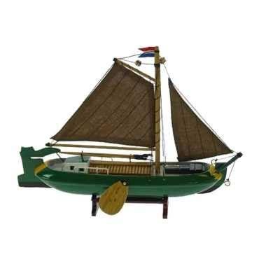 model zeilboot kopen model zeilboot nederlandse tjalk groen 24 cm model