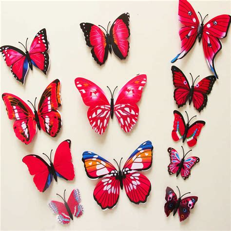 Brown Flower Wall Sticker Transparant מוצר 3d pvc butterfly wall stickers home decor butterfly