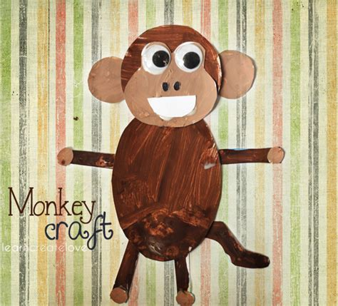 Printable Monkey Craft