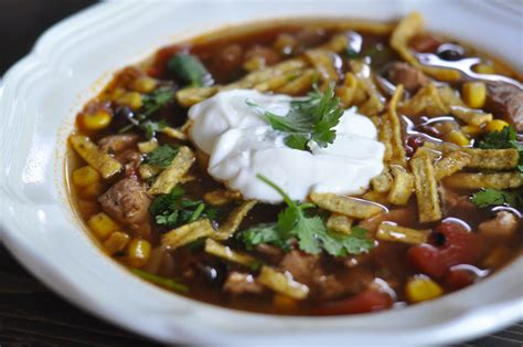 slow cooker chicken tortilla soup suburble