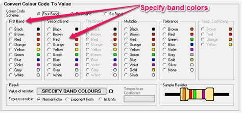 resistor colour code software 5 free software to decode resistor color codes