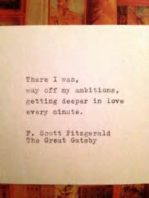 The great gatsby quote typed on typewriter the great gatsby quote