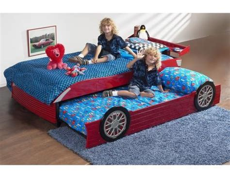car cing bed beds kids single race car bed with pull out guest bed
