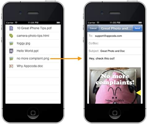email format xcode ios programming tutorial create email with attachment