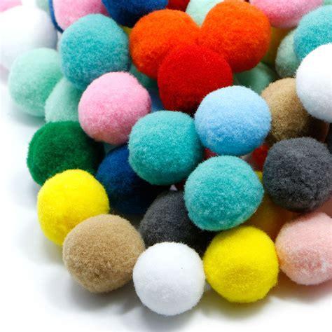Fluffy Mini Pom Pom 1 100 pcs diy crafts colourful mini fluffy pom poms