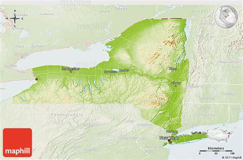 physical map of new york physical 3d map of new york lighten
