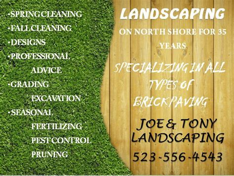 Free Landscaping Flyer Templates To Power Lawn Care Businesses Demplates Landscape Templates Free
