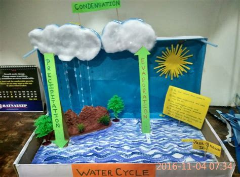 Handmade Science Models - 1000 ideas about water cycle craft on water