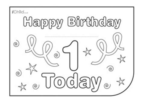 happy 1st birthday card template birthday card design template for 1 year 1st birthday