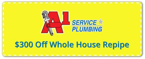 A 1 Plumbing Services by Orlando Plumber Plumbing Coupons A1 Service Plumbing