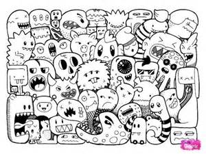 doodle characters monsters colored best 25 doodle ideas on